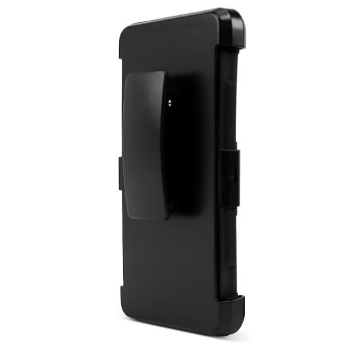 LG Class Case, [Black] Rubberized Plastic on Silicone Dual Layer Hybrid Case