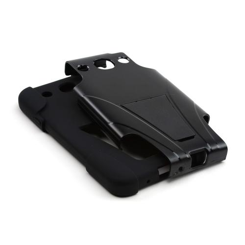 Black Hard Case w/ Kickstand on Black Silicone Case for LG Optimus G Pro