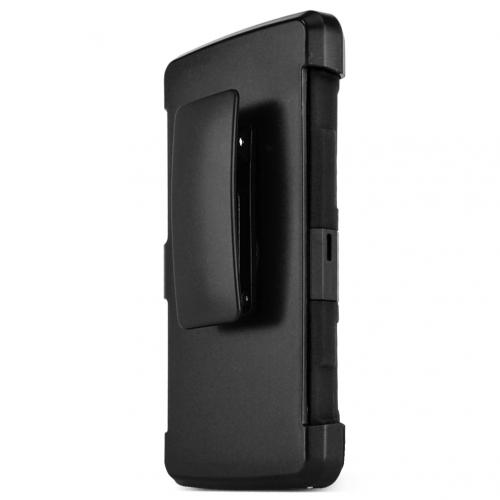 LG Escape 2 (ATT, Cricket) Holster Case, REDshield [BLACK] Supreme Protection Hard Plastic on Silicone Skin Dual Layer Hybrid Case w/ Holster