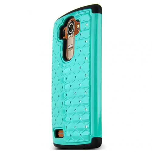 LG G4 Case, [Dark Mint] Hard Plastic on Silicone Dual Layer Hybrid Case Cover
