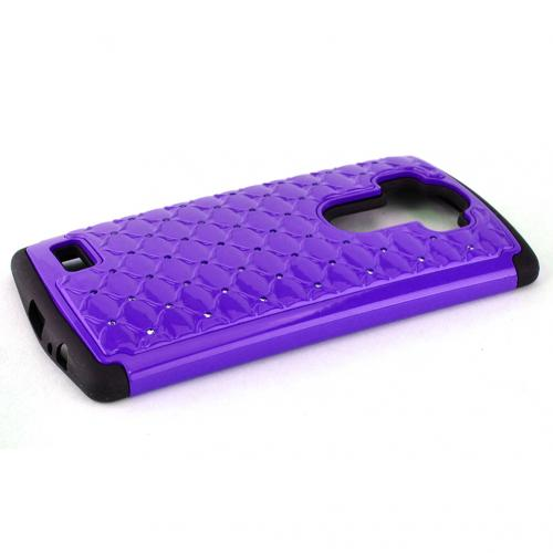 LG G4 Case, [Purple] Hard Plastic on Silicone Dual Layer Hybrid Case Cover