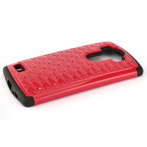 LG G4 Case, [Red] Hard Plastic on Silicone Dual Layer Hybrid Case Cover