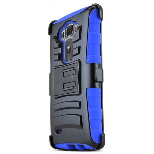 G Flex 2 Case, [Blue / Black] Supreme Protection Plastic on Silicone Dual Layer Hybrid Case for LG G Flex 2