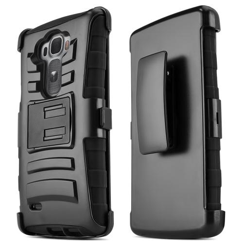 G Flex 2 Case, [Black] Supreme Protection Plastic on Silicone Dual Layer Hybrid Case for LG G Flex 2