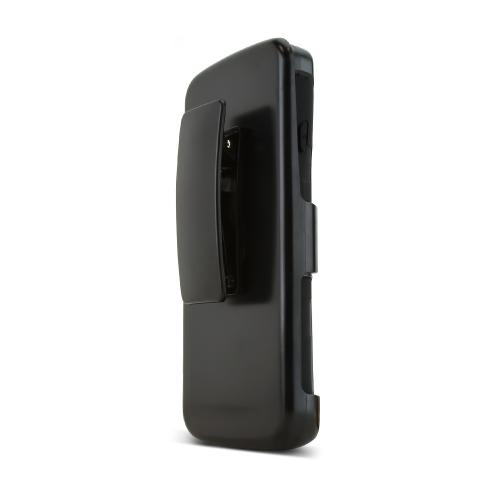 Black LG Lucid 3 Hard Case w/ Kickstand on Black Silicone Skin Case w/ Holster