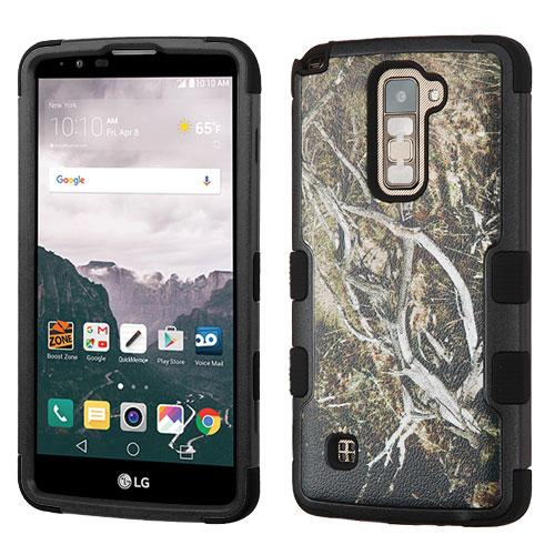 [LG Stylo 2 Plus] Case, TUFF Hybrid Dual Layer Hard Case on Silicone Skin [Tree Branches on Black]