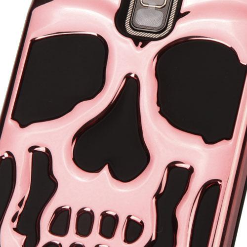 [LG Stylo 2 Plus] Case, Skull Hybrid Dual Layer Hard Case on Silicone Skin [Rose Gold]