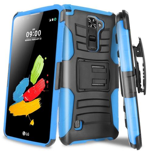 LG Stylo 2 Holster Case, REDshield [Blue] Supreme Protection Hard Plastic on Silicone Skin Dual Layer Hybrid Case