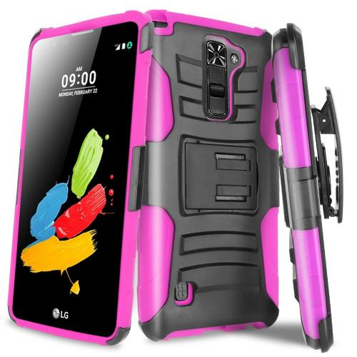 [LG Stylo 2] Holster Case, REDshield [Hot Pink] Supreme Protection Hard Plastic on Silicone Skin Dual Layer Hybrid Case