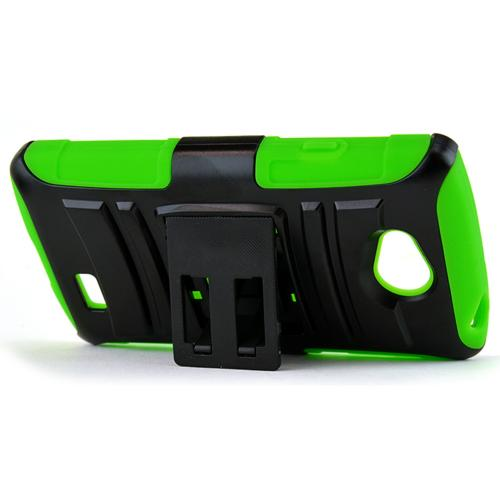 Lg Transpyre Hybrid Case [neon Green / Black] Heavy Duty Protective Dual Layer Rugged Bumper Hybrid Case [Fitting Lg Transpyre (2014) Case]