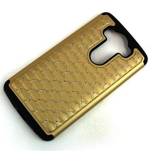 LG V10 Case,  [Gold Bling]  Supreme Protection Plastic on Silicone Dual Layer Hybrid Case