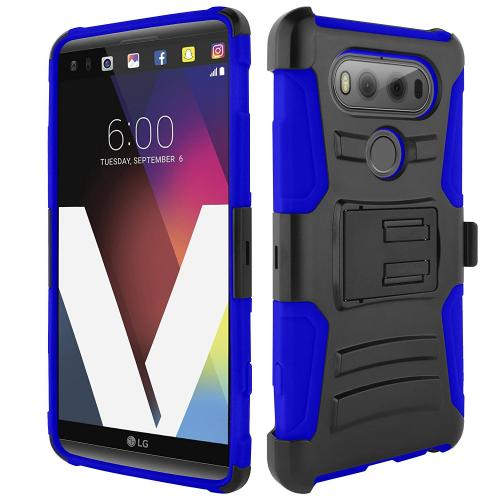 [LG V20] Holster Case, REDshield [Blue] Supreme Protection Hard Plastic on Silicone Skin Dual Layer Hybrid Case