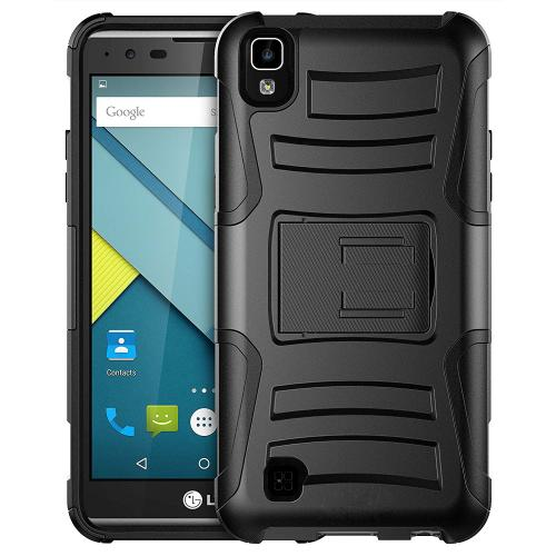 LG X Power Holster Case, REDshield [Black] Supreme Protection Hard Plastic on Silicone Skin Dual Layer Hybrid Case