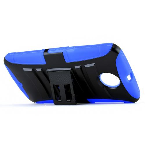 Motorola Nexus 6 Hybrid Case [blue / Black] Heavy Duty Protective Dual Layer Rugged Bumper Hybrid Case [Fitting Motorola Nexus 6 (2014) Case]