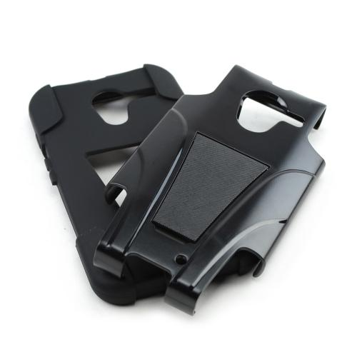 Black Hard Cover w/ Kickstand on Black Silicone Skin Case for Motorola Moto X(2013 1st Gen)