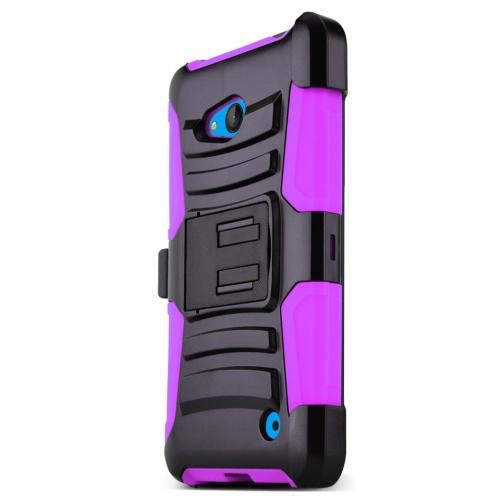 Hot Pink Hard Plastic on Silicone Dual Layer Hybrid Case Cover Skin for Nokia Lumia 640