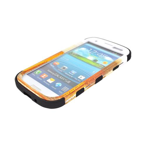 Samsung Galaxy S3 Hard Case on Silicone - Golden Beer