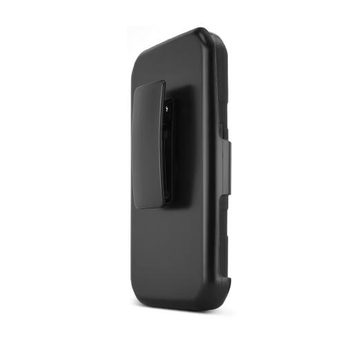 Black Samsung Galaxy S5 Sport Dual Layer Hard Case w/ Kickstand on Black Silicone Skin Case w/ Holster - Fantastic Protection!