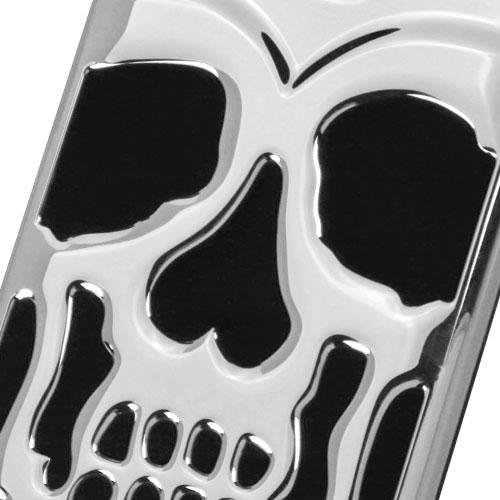 [Samsung Galaxy J7] (2015) Case, Skull Hybrid Dual Layer Hard Case on Silicone Skin [Silver]