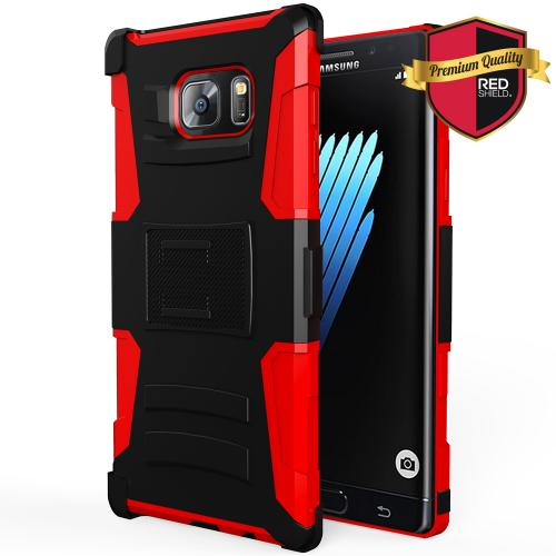 Samsung Galaxy Note 7 Holster Case, REDshield [Red] Supreme Protection Hard Plastic on Silicone Skin Dual Layer Hybrid Case