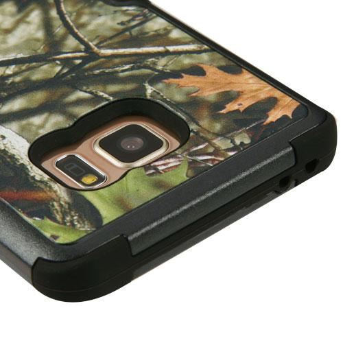 Samsung Galaxy Note 7 Case, TUFF Hybrid Dual Layer Hard Case on Silicone Skin w/ Kickstand [Oak Leaves-Hunting Camouflage]