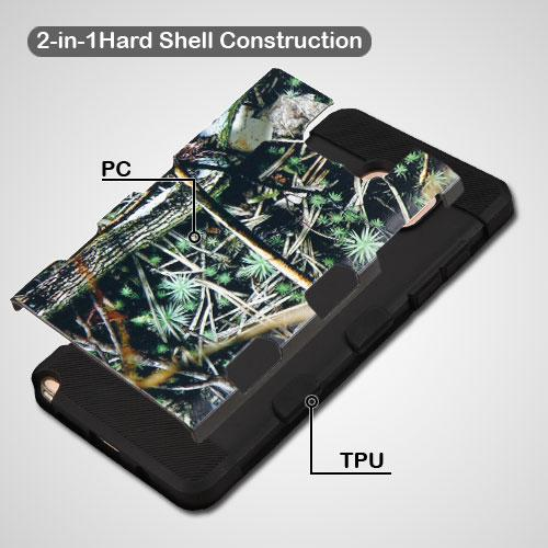 Samsung Galaxy Note 7 Case, TUFF Trooper Dual Layer Hard Cover Case on TPU Skin [Cedar Tree - Hunting Camouflage]