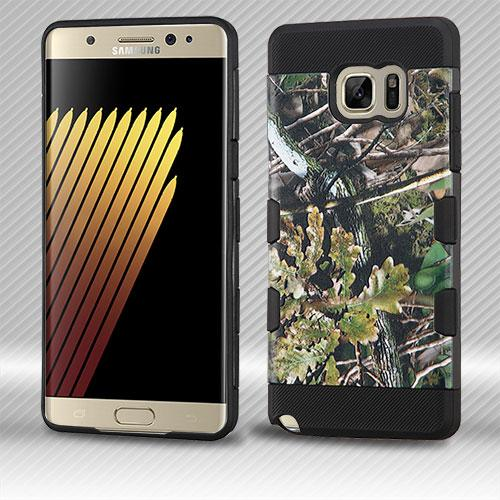 Samsung Galaxy Note 7 Case, TUFF Trooper Dual Layer Hard Cover Case on TPU Skin [English Oak II - Hunting Camouflage]