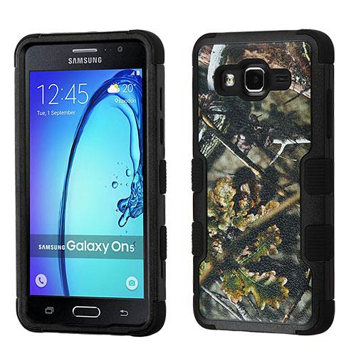 [Samsung Galaxy On5] Case, TUFF Hybrid Dual Layer Hard Case on Silicone Skin [English Oak -Hunting Camouflage]