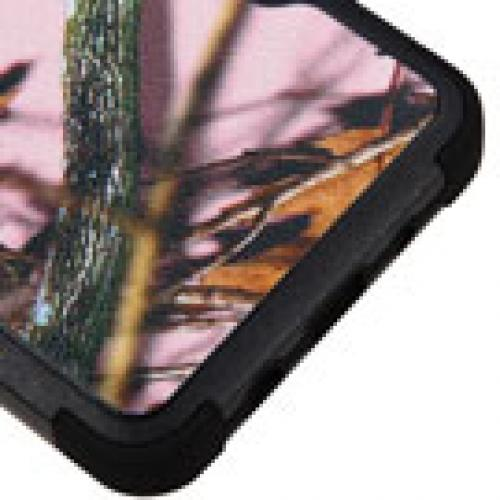 Samsung Galaxy On5 Case, TUFF Hybrid Dual Layer Hard Case on Silicone Skin [Pink Oak-Hunting Camouflage]