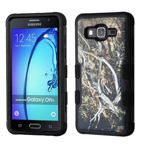[Samsung Galaxy On5] Case, TUFF Hybrid Dual Layer Hard Case on Silicone Skin [Tree Branches on Black]