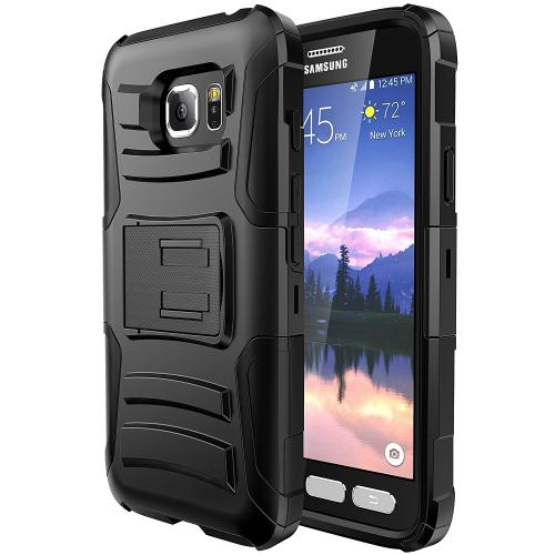 Samsung Galaxy S7 Active Holster Case, REDshield [Black] Supreme Protection Hard Plastic on Silicone Skin Dual Layer Hybrid Case