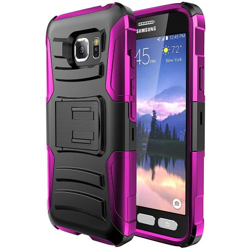 Samsung Galaxy S7 Active Holster Case, REDshield [Hot Pink] Supreme Protection Hard Plastic on Silicone Skin Dual Layer Hybrid Case