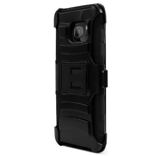 Samsung Galaxy S7 Edge Case, REDshield [Black]  Heavy Duty Dual Layer Hybrid Holster Case with Kickstand and Locking Belt Swivel Clip