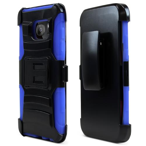 Samsung Galaxy S7 Edge Case, REDshield [Blue]  Heavy Duty Dual Layer Hybrid Holster Case with Kickstand and Locking Belt Swivel Clip