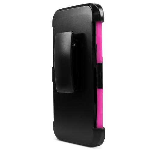 Samsung Galaxy S7 Edge Case, REDshield [Hot Pink]  Heavy Duty Dual Layer Hybrid Holster Case with Kickstand and Locking Belt Swivel Clip