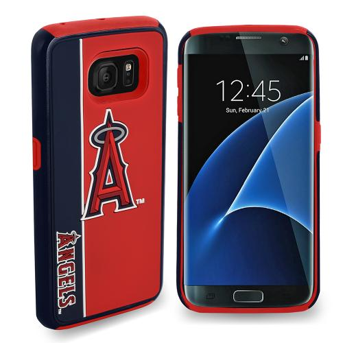 Samsung Galaxy S7 MLB Case, Slim Dual layer Hybrid Hard Case on TPU Case [Los Angeles Angels]
