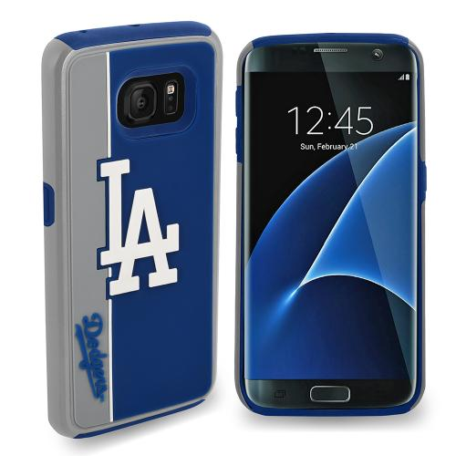Samsung Galaxy S7 MLB Case, Slim Dual layer Hybrid Hard Case on TPU Case [Los Angeles Dodgers]