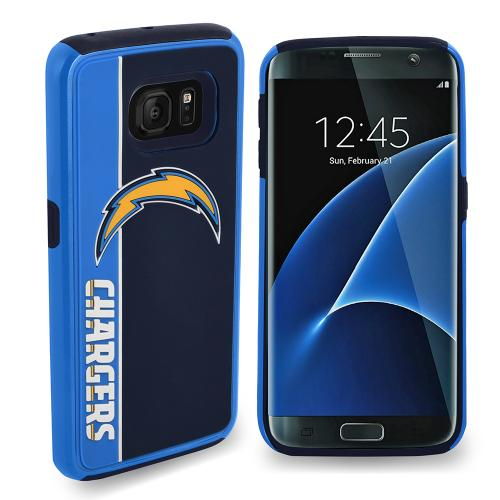 Samsung Galaxy S7 NFL Case, Slim Dual layer Hybrid Hard Case on TPU Case [San Diego Chargers]