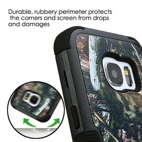 Samsung Galaxy S7 Case, TUFF Hybrid Dual Layer Hard Case on Silicone Skin [English Oak - Hunting Camouflage]
