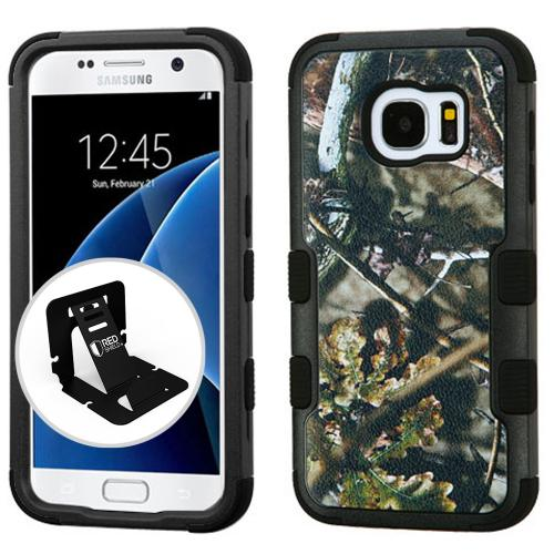 [Samsung Galaxy S7] Case, TUFF Hybrid Dual Layer Hard Case on Silicone Skin [English Oak - Hunting Camouflage]