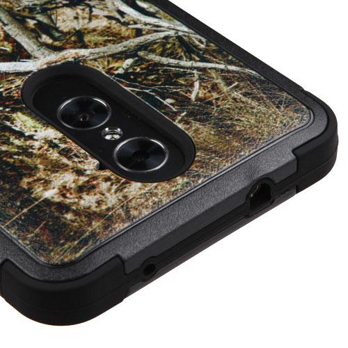 [ZTE Zmax Pro] Case, TUFF Hybrid Dual Layer Hard Case on Silicone Skin [Tree Branches on Black]