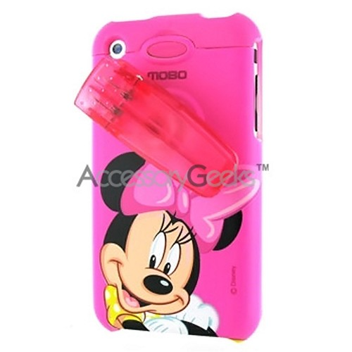 MOBO Disney Apple iPhone Protective Hard Case & Strap - Minni Mouse