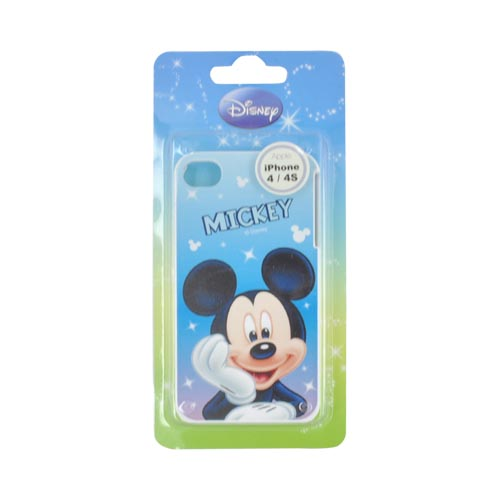 Original Disney AT&T/ Verizon Apple iPhone 4, iPhone 4S Hard Case - Mickey Mouse on Blue