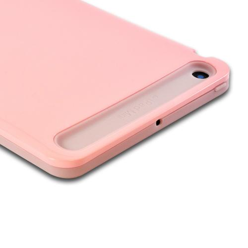 Baby Pink Hard Case on Pink Glow in the Dark Silicone Case for Apple iPad Mini 1/2/3