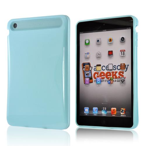 Baby Blue Hard Case on Blue Glow in the Dark Silicone Case for Apple iPad Mini/ iPad Mini 2