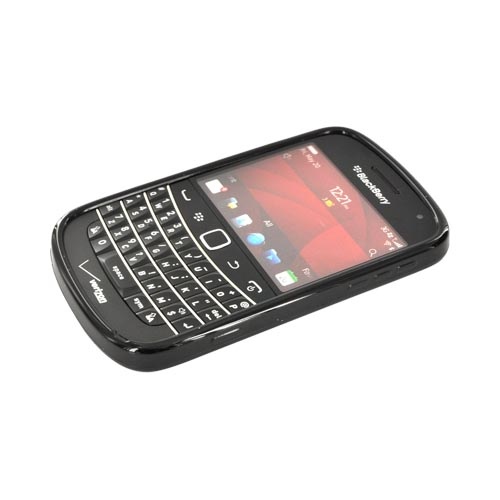 Blackberry Bold 9900, 9930 Hard Back w/ Gummy Silicone Border - Smoke/ Black