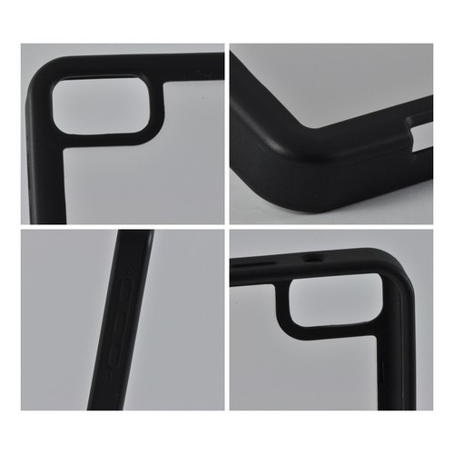 Matte Black/ White Hard Case w/ Crystal Silicone Border for BlackBerry Z10
