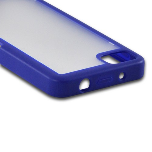 Matte Blue/ Frost White Hard Case w/ Crystal Silicone Border for BlackBerry Z10