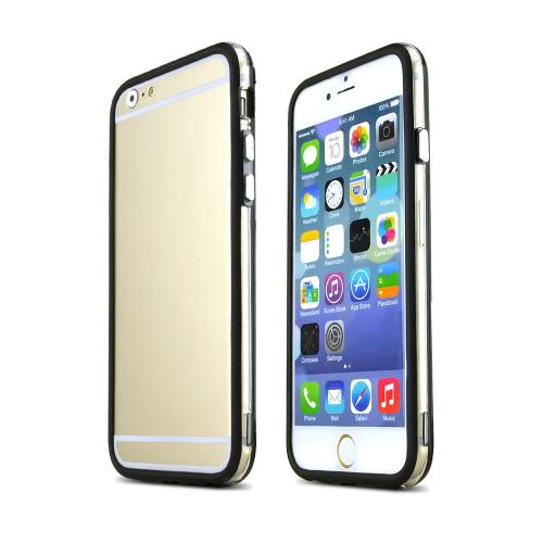 Clear/ Black TPU Crystal Silicone Bumper Made for Apple iPhone 6 (4.7 inch)  - Show off Your Device While Protecting it!