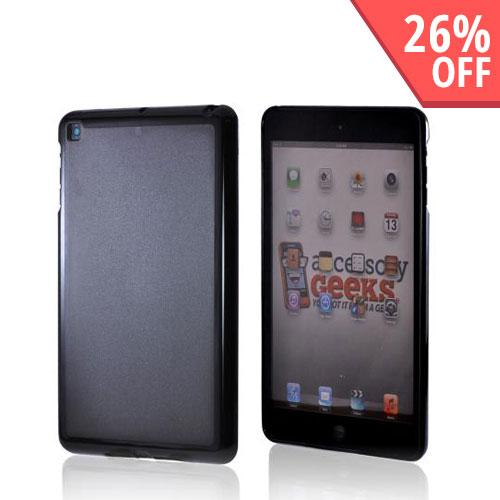 Apple iPad Mini Hard Back w/ Crystal Silicone Border - Black/ Smoke